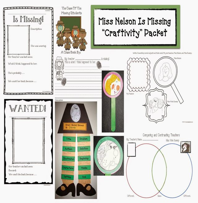Miss Nelson Is Missing Packet Classroom Freebies – Miss Nelson is Missing Worksheets
