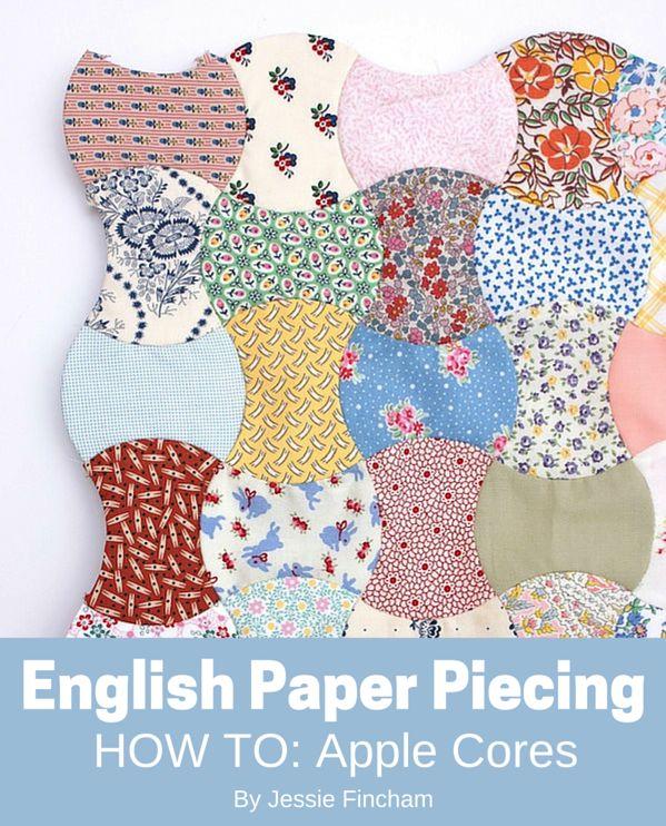 English Paper Piecing Quilt Blog : Tutorial // Apple Cores & English Paper Piecing: Part 1 / Basting Messy Jesse Bloglovin