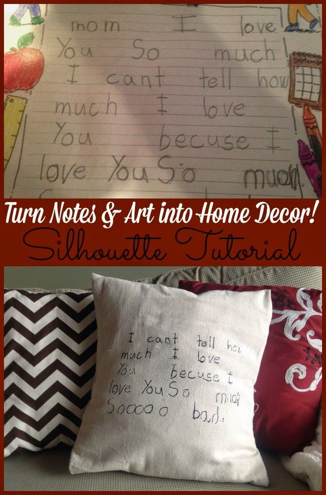 Silhouette Project Idea Turn Kids Notes Drawings Into Keepsakes