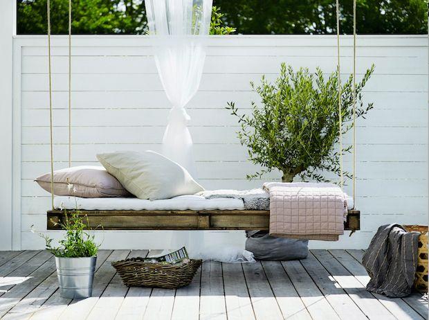 The beautiful home of a swedish interior stylist my for Divanetto da balcone