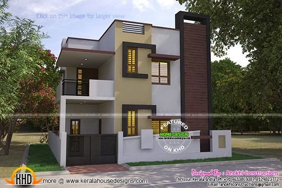 Floor plan of 1550 square feet home kerala home design 200 yards house design