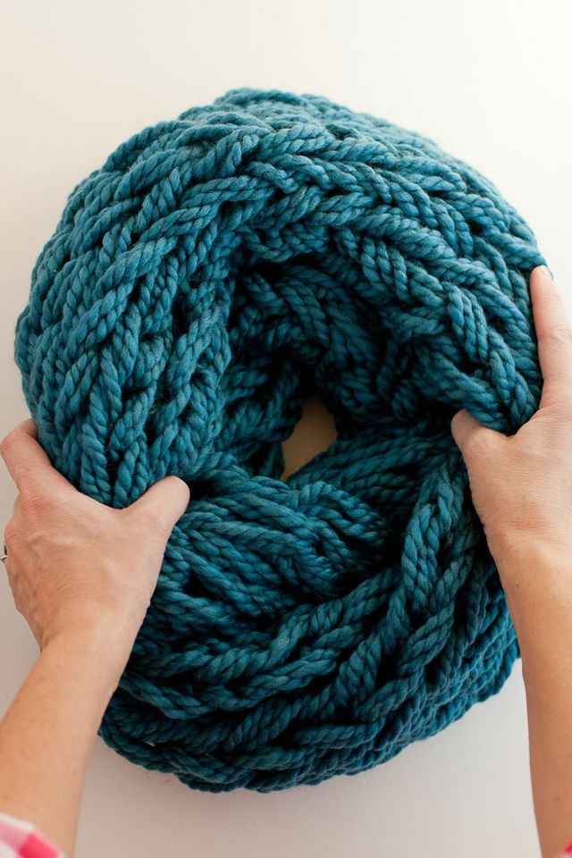 Knitting Without Needles Pdf : Arm knitting how to photo tutorial and pdf flax twine