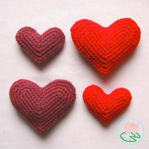 Een Hart Haken Crochet Heart Tutorial Bees And Appletrees