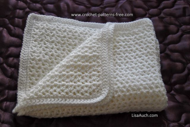 Free Crochet Baby Blanket Pattern Easy Crochet V Stitch Crocheted