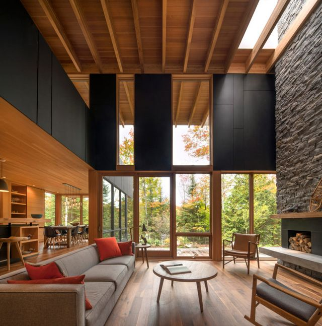 A Luxury Wooded Lakeside Retreat Northeast Of Toronto