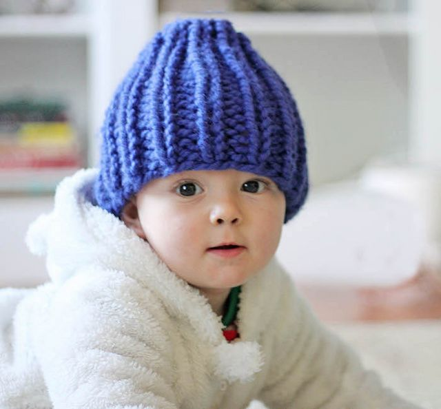 Knitting Pattern For Beanie For Baby : Easy Baby Beanie Knitting Pattern Gina Michele Bloglovin