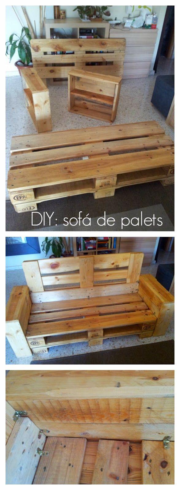 Diy c mo hacer un sof con palets x4duros bloglovin - Construir sofa con palets ...