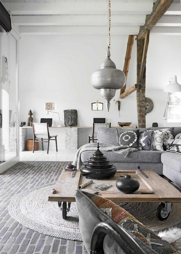 The Space Captured By Barbara Groen Has Been Decorated With A Blend Of Scandinavian Rustic And Ethnic Style Is Teeming Items Find On Their