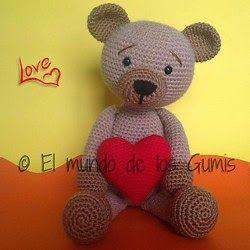 Bloglovin Amigurumi : Valentine Bear (Spanish crochet pattern) Free Amigurumi ...