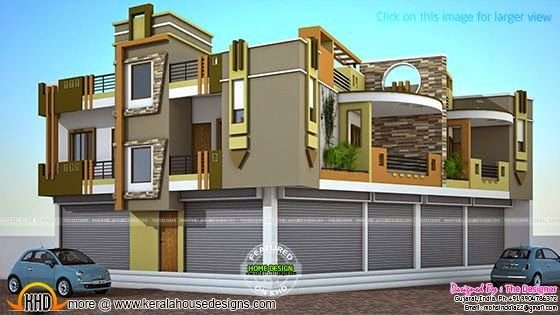 2 House Plans With Shops On Ground Floor