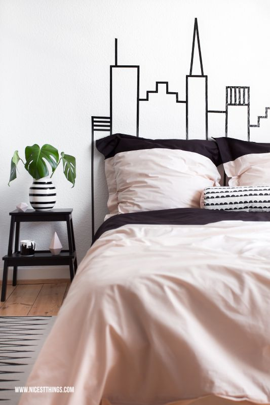 DIY: New York City Skyline Bedhead + Auping Giveaway | Nicest Things ...