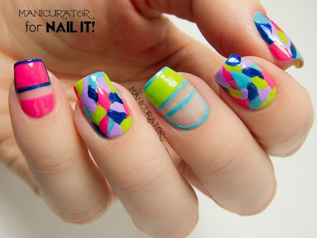 Kiss Products Freehand Mosaic Nail Art for Nail It! Magazine ...