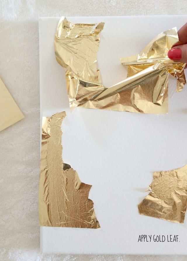 How To Make DIY Gold Leaf Abstract Art | LiveLoveDIY ... - photo #12