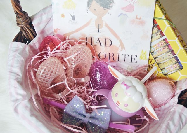 Easter basket goodies little baby garvin bloglovin i always love putting a book in her basket this year i chose i had a favorite dress which is so fitting because she has been playing dress up every day negle