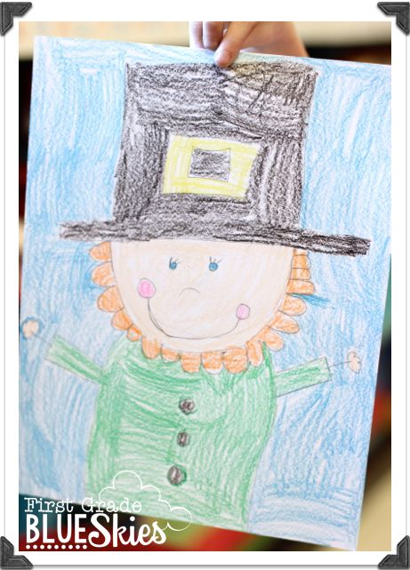 This is a graphic of Breathtaking Directed Drawing Leprechaun
