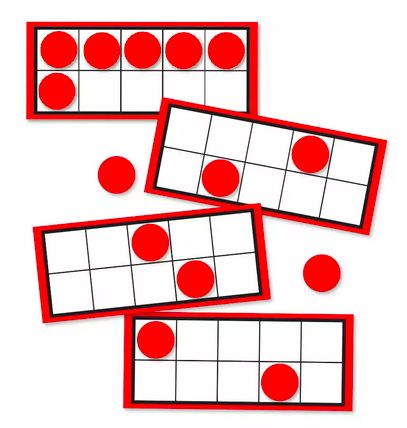 Carson dellosa treats for the classroom fluttering through first weve been adding and subtracting machines since the first day of school we taped these curriculum cut outs ten frames to the tops of their desks for easy fandeluxe Image collections