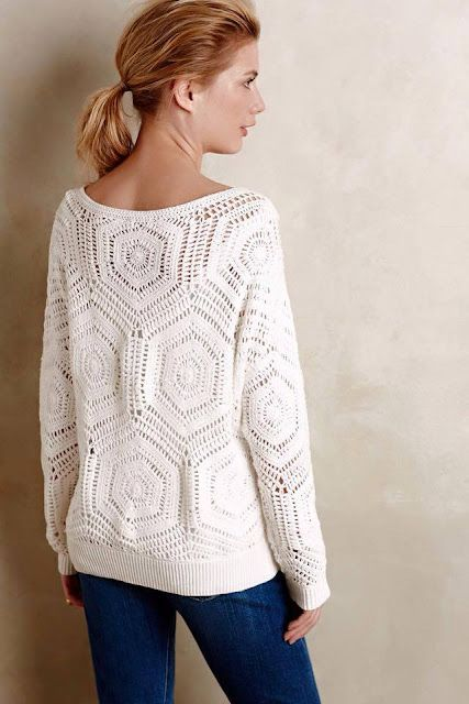 a37d77b20659d Free Crochet Pattern and Instructions for Anthropology Pullover ...