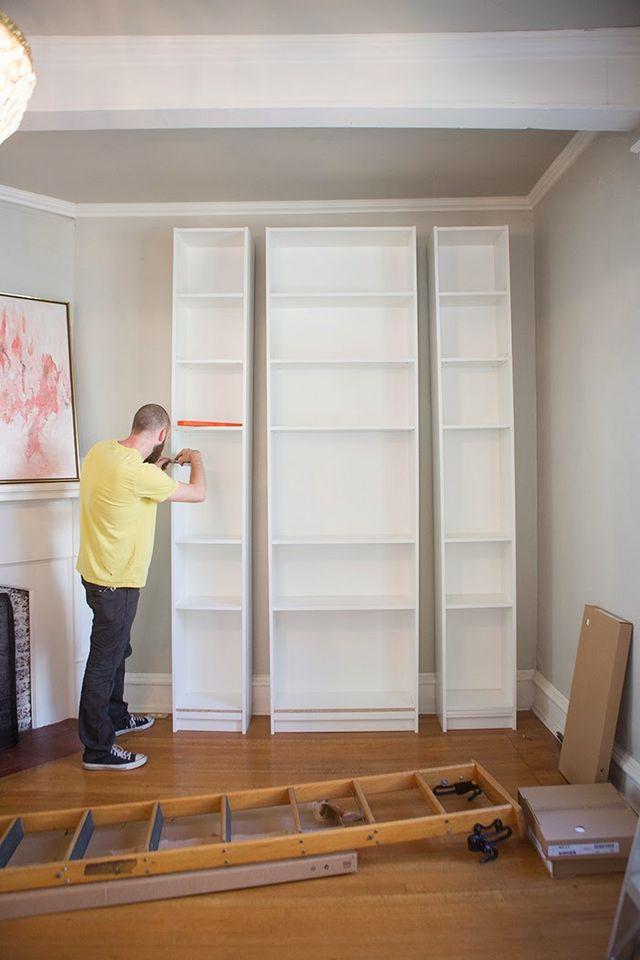 Laura's Living Room: Ikea Billy Bookshelves Hack | The ...
