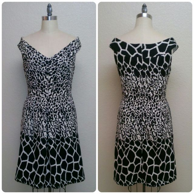 ef909f0cf ... panel print -- Black and White Jaguar Printed Cotton-Polyester Jacquard  (sadly, it's already sold out) and knew that it would be perfect for this  dress!