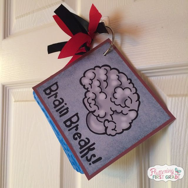 Carson dellosa treats for the classroom fluttering through first we punched a hole in our brain break cards and stuck them on a large binder ring then hung it by our classroom door for grab and go brain breaks fandeluxe Image collections