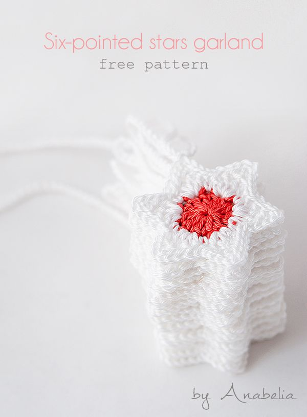 DIY: How to make a crochet stars Christmas garland | Anabelia Craft ...