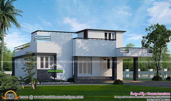 1000 2 bed room villa kerala home design bloglovin for 1000 sq ft house model