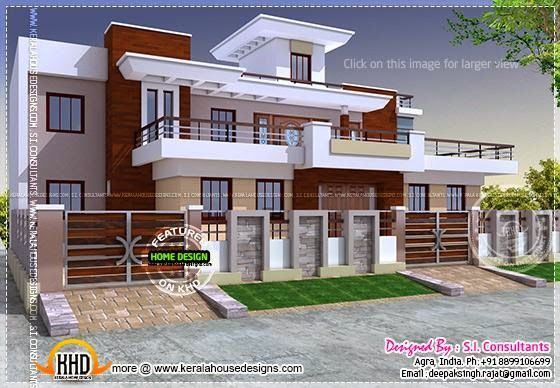 Modern style india house plan kerala home design for House construction designs india