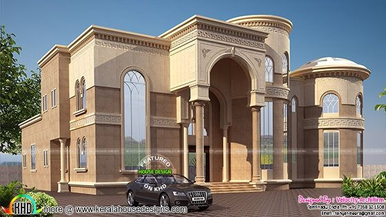 Arabian model house elevation kerala home design for Arabic home design