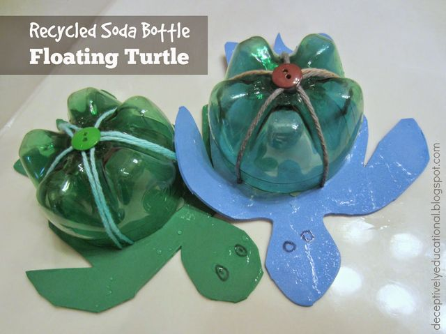 Recycled soda bottle floating turtle relentlessly fun - Recycled soda bottle crafts ...