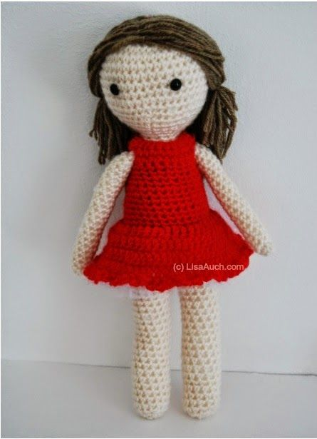 Free Crochet Amigurumi Doll Pattern (Basic Crochet Doll Pattern ...