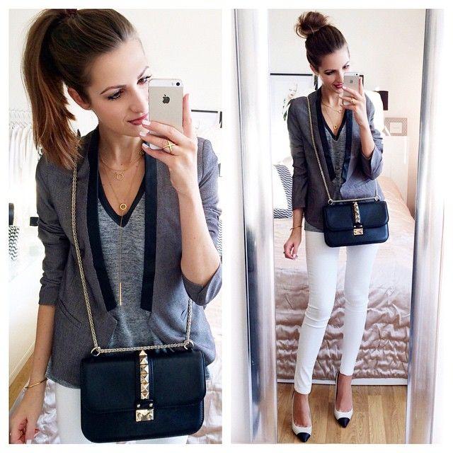 Damen Jacke Strick Strickjacke Jacket Women Fashion Frühling Blogger Blazer 2ARS