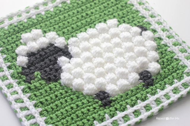 Crochet Bobble Stitch Sheep Square Repeat Crafter Me Bloglovin