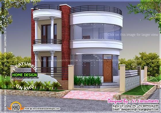 Round house design kerala home design bloglovin for Khd home elevation