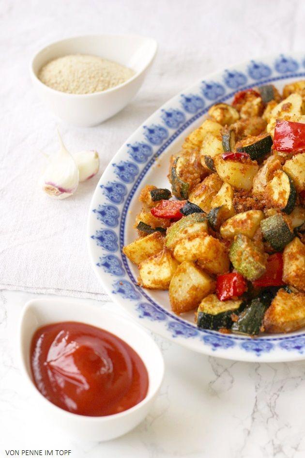 Super knuspriges Kartoffel - Zucchini - Gemüse aus dem Ofen | Penne ...