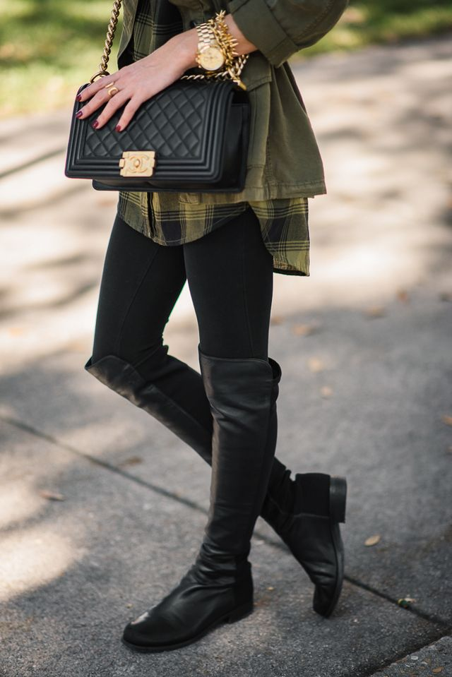 PLAID TUNIC   OVER THE KNEE BOOTS | Sequins and Things | Bloglovin'