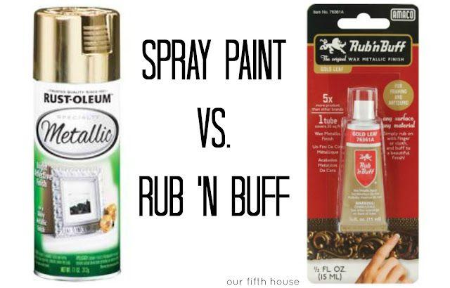 Rub N Buff Vs Spray Paint