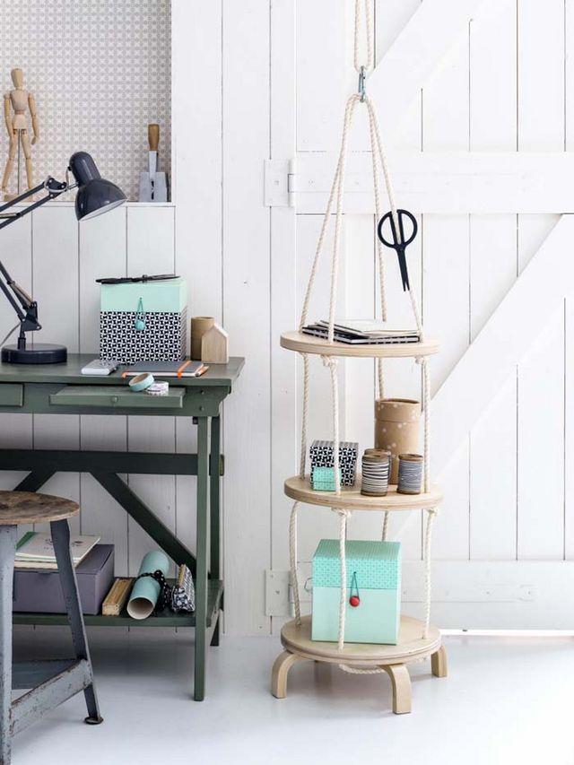 Coffee Bar Shelf With Hooks