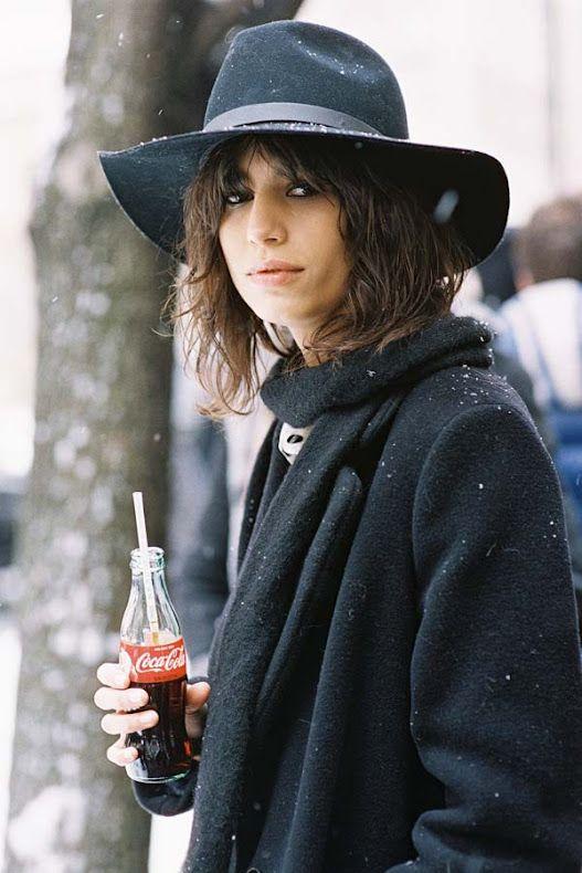1da27ba75d994 Fedora. Snow. Coca-Cola. Recreate Mica s look (kind of)  Rag   Bone Wide  brim fedora