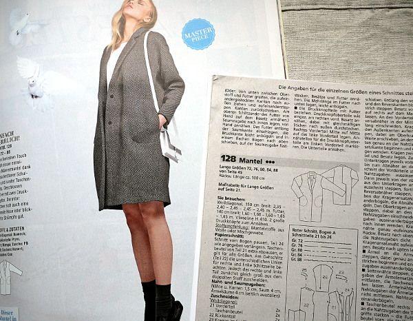 Ein Oversize-Experiment - Mantel Burdastyle 128, Heft 8/2014 ...