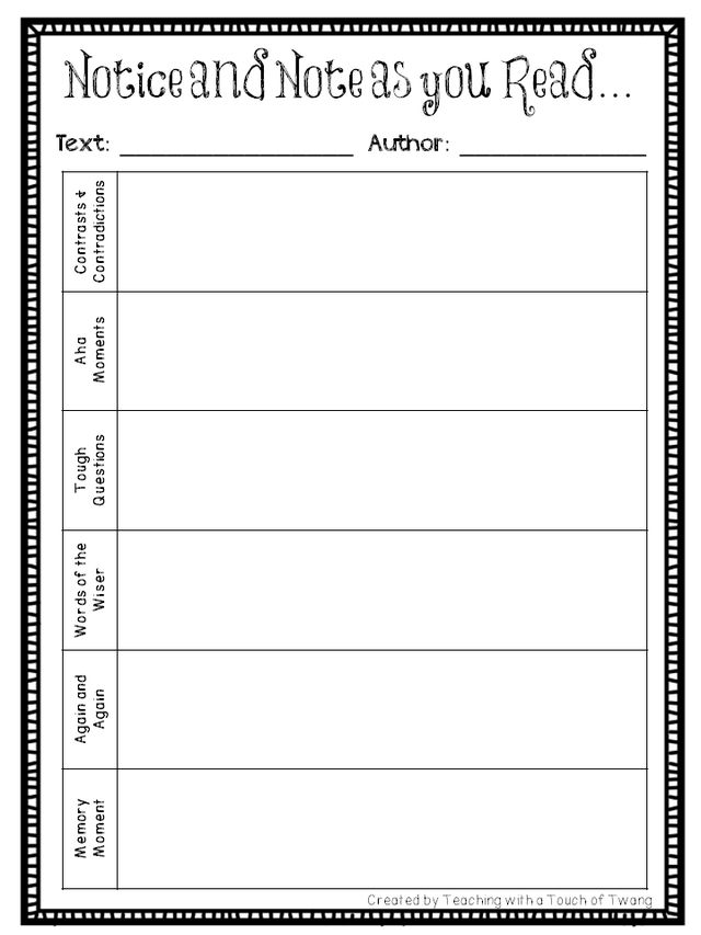 Notice and Note Book Study: Defining Signposts (Freebies & Giveaway ...
