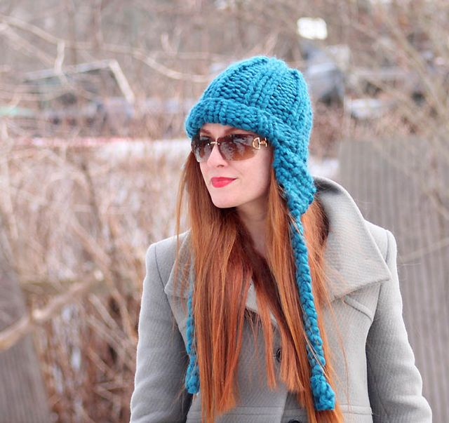 Cobbles Ear Flap Hat Knitting Pattern  107dae4ae83a