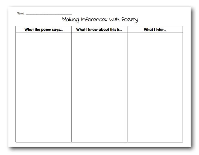 Making Inferences with Poetry – Inference Worksheets Pdf