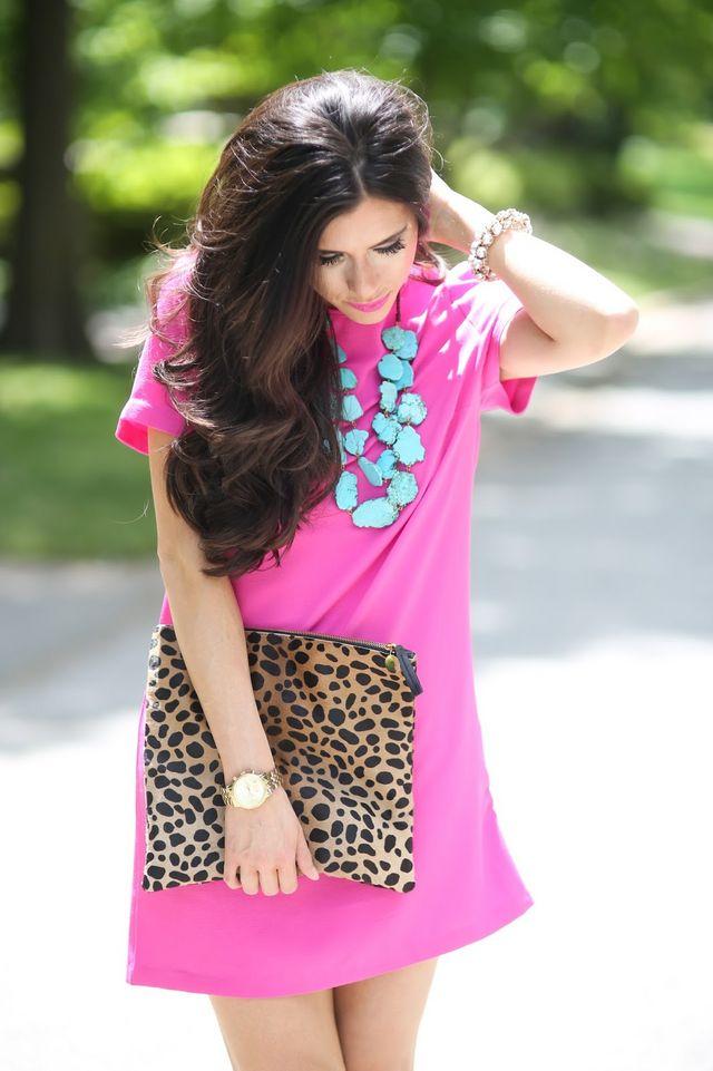 Summer Staple: Hot Pink Shift Dress  The Sweetest Thing  Bloglovin&39