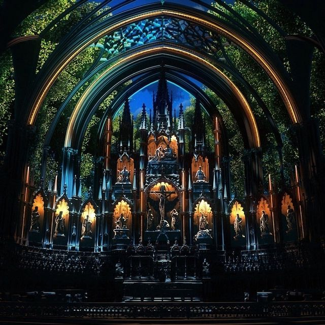 ThCentury Gothic Church Is Transformed Into An Immersive - Projection mapping turns chapel into stunning work of contemporary art