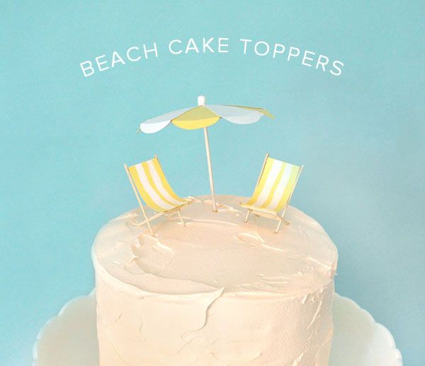 Beach Cake Toppers Oh Happy Day Bloglovin