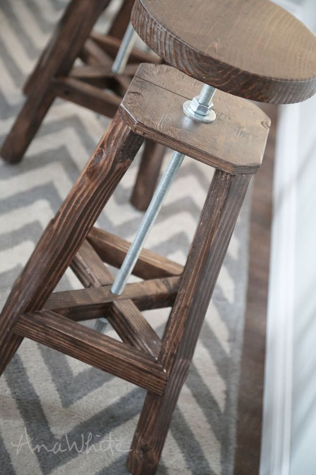 Industrial Adjustable Height Bolt Bar Stool Knock Off