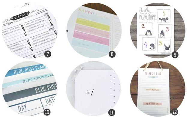 Imprimibles gratis: 18 planificadores para tu día a día para ...