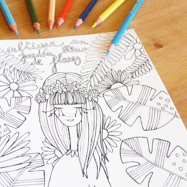 Imprimible: Lámina para colorear de Verónica Maraver | Cosas Molonas ...