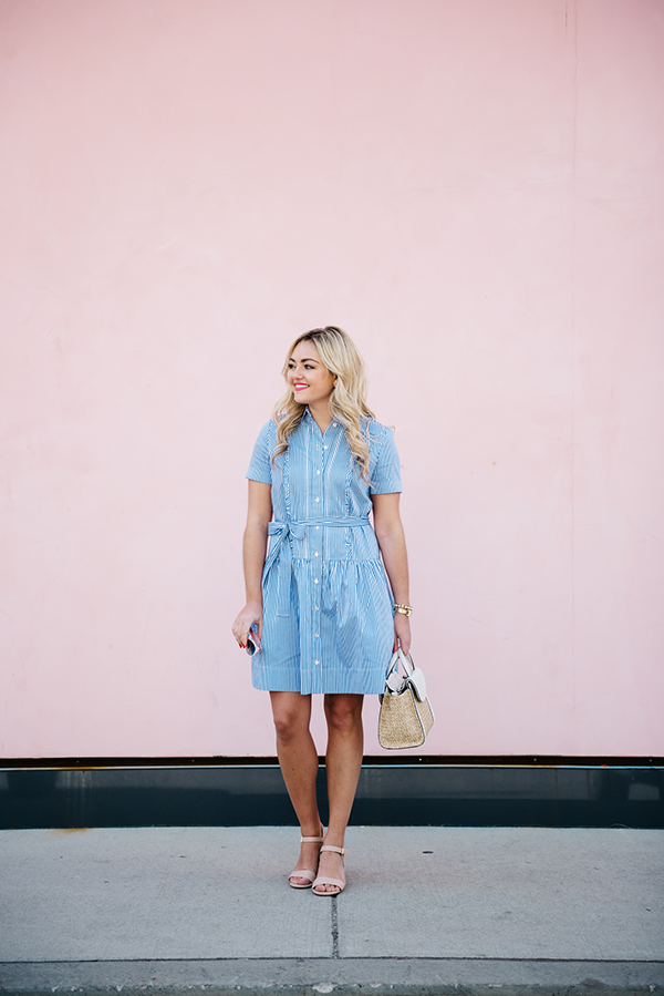 28d38cf099c This Kate Spade shirtdress combines everything I love… Stripes