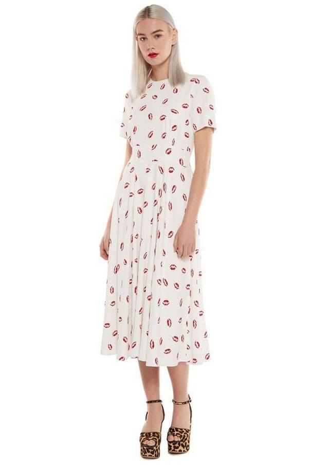 Teddies Women's Clothing Nwt Rose Print Nighty Teddi Slip Rose Print Strap Could Use A Stitch Size Medium Clear-Cut Texture